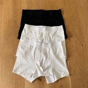 H&M Boxer Briefs Black White M